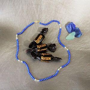 Jewelry - Genuine Lapis Lazuli, Pearl & 14k gold necklace